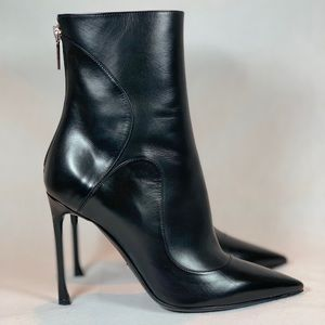 Dior Black Ankle Boot Petale Blk Calfskin NWT